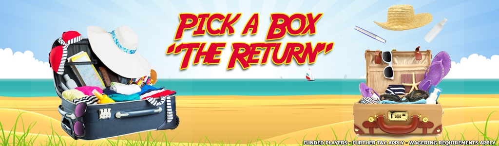 "Pick a Box ""The Return"" banner"