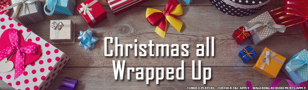Christmas all wrapped up banner